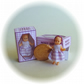 Dolls House 1:12th scale miniature, a boxed dolly for your dollhouse doll. Lilac