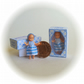 Dolls House 1:12th scale miniature, a boxed dolly for your dollhouse doll. Blue