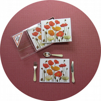 Dolls House 1:12th scale miniature boxed Poppy tablemats