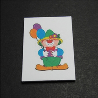 Dolls House 1:12th scale miniature nursery wall art, picture, canvas, Clown
