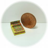Dolls House 1:12th scale miniature shop box of sweets, fruit gums