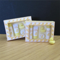 Dolls House 1:12th scale miniature Little Ducks baby toiletries PRICE REDUCED