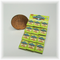 Dolls House 1:12th scale miniature snack display card. Scampi PRICE REDUCED