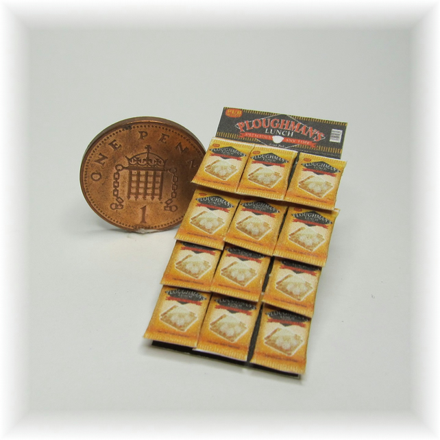 Dolls House 1:12th scale miniature snack display card. Ploughmans PRICE REDUCED
