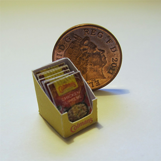 Dolls House 1:12th scale miniature box of sauce mix. Chicken PRICE REDUCED