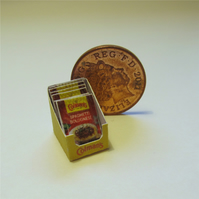 Dolls House 1:12th scale miniature shop display box of sauce mix. Bolognese