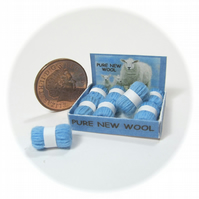 Dolls House 1:12th scale shop display box of wools, pure new wool.