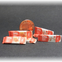 Dolls House 1:12th scale miniature 6x packets of clay