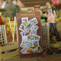 Dolls House 1:12th scale miniature, Seaside postcard display