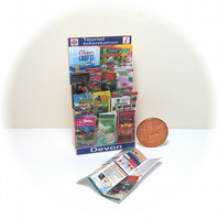 Dolls House 1:12th scale miniature, Tourist leaflet stand, Devon