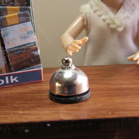 Dolls House 1:12th scale miniature, counter, desk, service bell