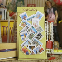 Dolls House 1:12th scale miniature, Seaside postcard display (A)