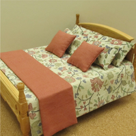 Dolls House 1:12th scale double bedding set (lb15)