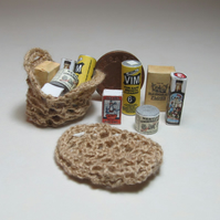 Dolls House 1:12th scale miniature 1940s filled string bag
