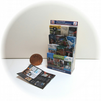 Dolls House 1:12th scale miniature, Tourist leaflet stand, Scotland
