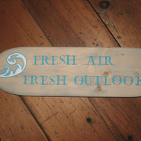 Fresh air hand painted plaque