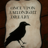 The Raven  wall plaque