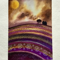Autumn Skies, blank greetings card