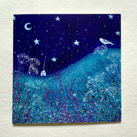 Starry Skies, blank greetings card