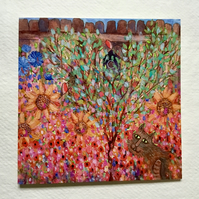 The Heart Tree, blank greetings card