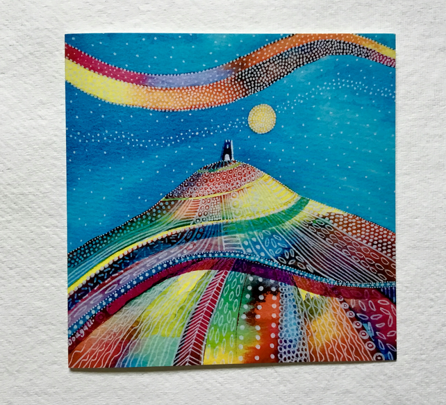 The Tor, blank greetings card
