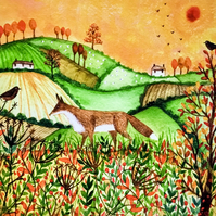 SALE, Autumn Fields, giclee print