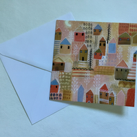 Scandi Summer,blank greetings card