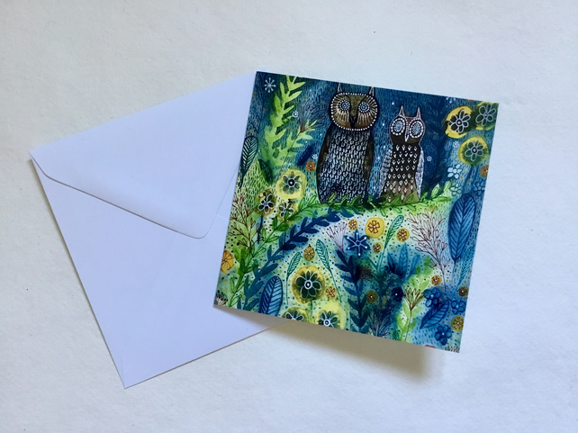 Twit Twoo, blank greetings card