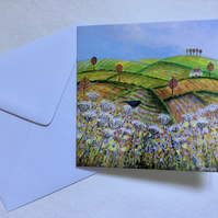 Russet Meadows, blank greetings card