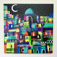 Over the Rooftops, blank greetings card