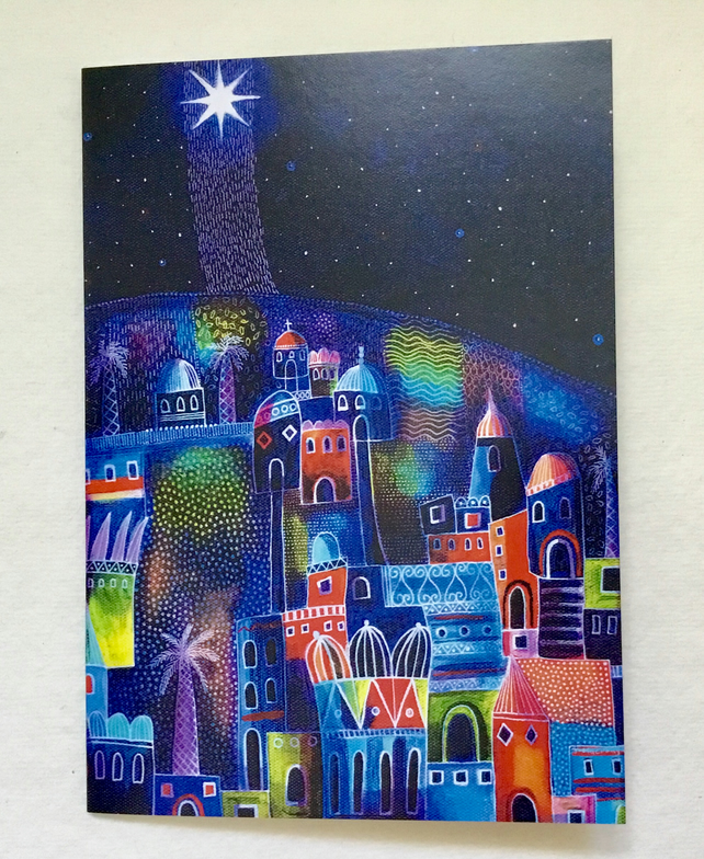 Star Shining Bright, blank greetings card