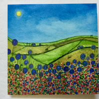 Summer Meadows, Blank Greetings Card