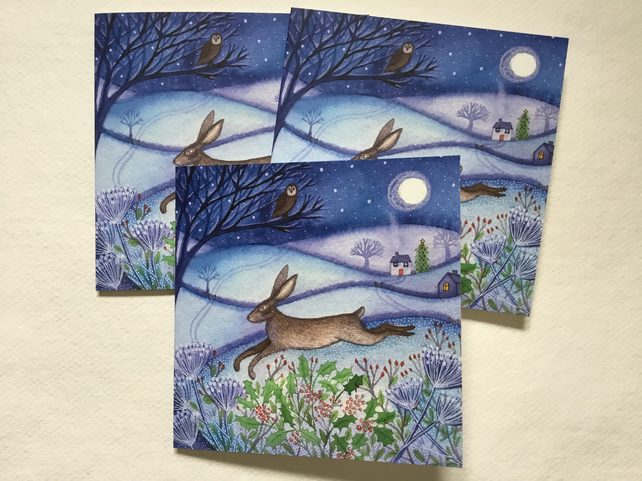 First Frost, blank greetings card