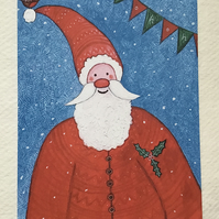 Santa Claus, Blank Christmas Card
