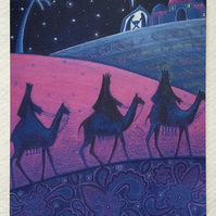 Three Wise Men, Nativity, Blank Christmas Card