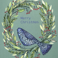 Dove Wreath, Blank Christmas Card