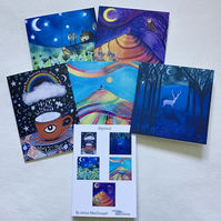 Mystical,blank greetings card pack