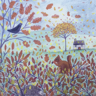 Autumn Day, blank greetings card