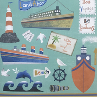 Land Ahoy, blank greetings card