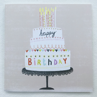 Happy Birthday, Blank Greetings Card