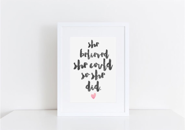 She Believed She Could So She Did Print - A4 Print