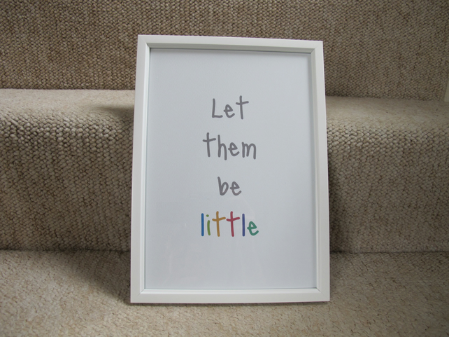 Let them be little - A4 Print