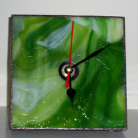 Bright green glass clock