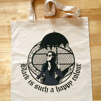 Morticia Addams Canvas Tote Bag, Addams Family, Gothic Clothing, Goth Gift