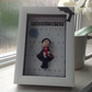 "Handmade Graduation Framed Prints salt dough figures Male or Female 5"" x 7"""