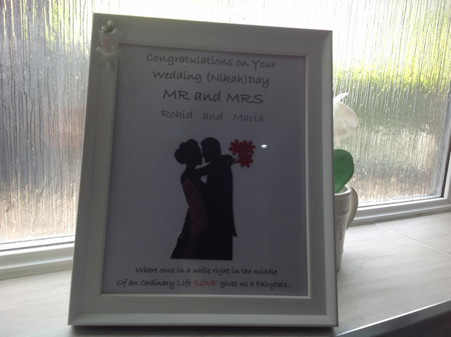 Handmade Framed Prints for Wedding Gifts