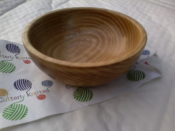 Handmade Ash Bowl with Bees Wax Finish