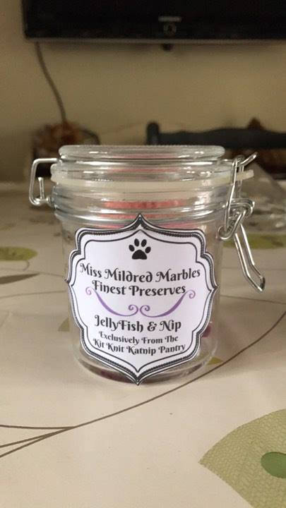 Miss Mildred Marbles Finest Preserves Jelly Fish and Nip Jar