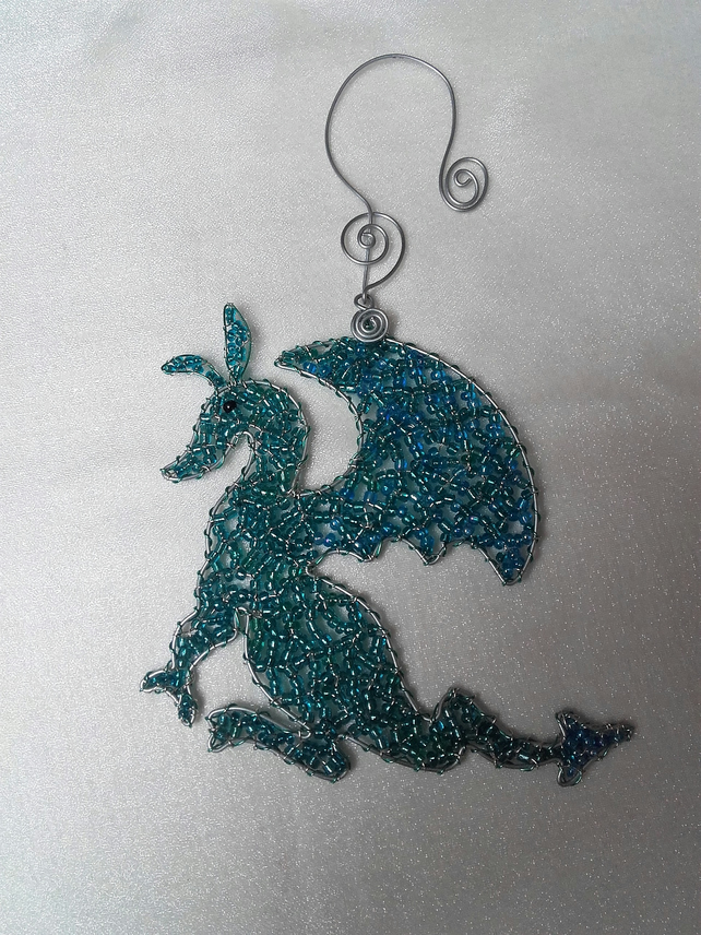 DRAGON Sun Catcher - Turquoise