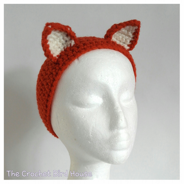 Crochet Fox Headband
